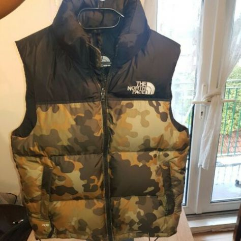THE NORTH FACE - Piumino Smanicato 1996 Retro NUPTSE vest 700 CAMO