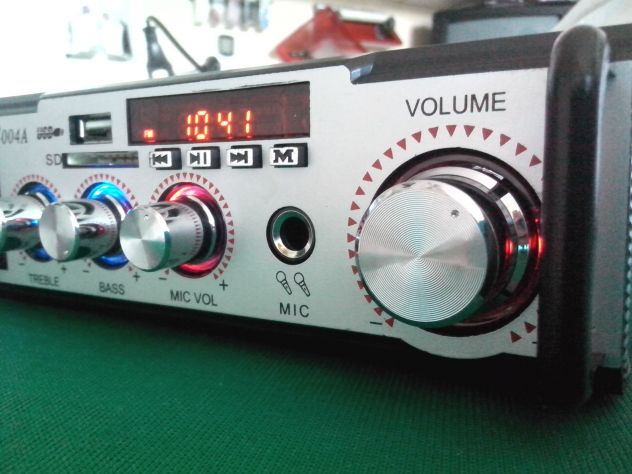 Karaoke stereo hi-fi amplificatore bluethooth multiuso 50 watt