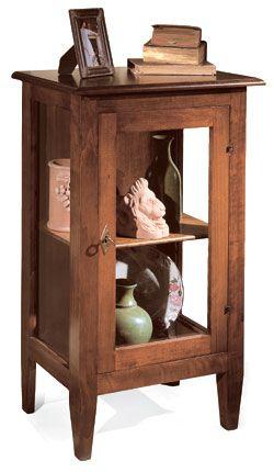 Vetrinetta 1 porta 1 ripiano stile arte povera cod 11400