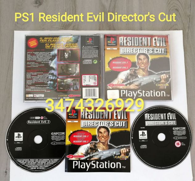 PS1 RESIDENT EVIL DIRECTOR'S CUT PAL