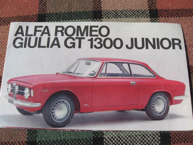 ALFA ROMEO GT JUNIOR 1300  PRIMA SERIE DEPLIANT ORIGINALE!!!!!