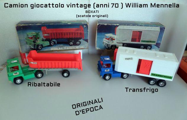Camion giocattolo Zio Willy, vintage (anni 70) William Mennella boxati