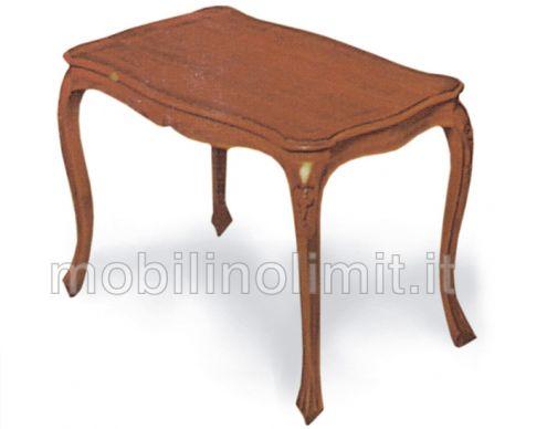 Tavolino con piano in legno sagomato - Nuovo