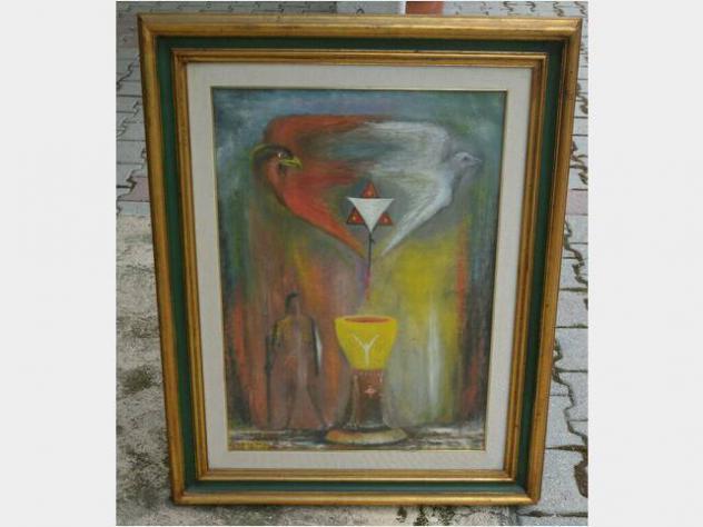 Stock quadri dipinti tela cornice olio autori