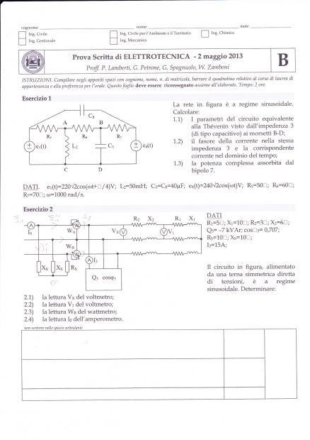 Ripetizioni elettronica e o elettrotecnica