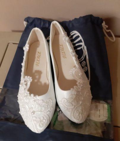 8f7eae117c43 Scarpe matrimonio ballerine shoes flat tacco suola rasoterra sposa - Foto 2