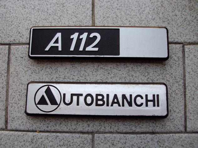 Scritte Autobianchi A 112 su portellone