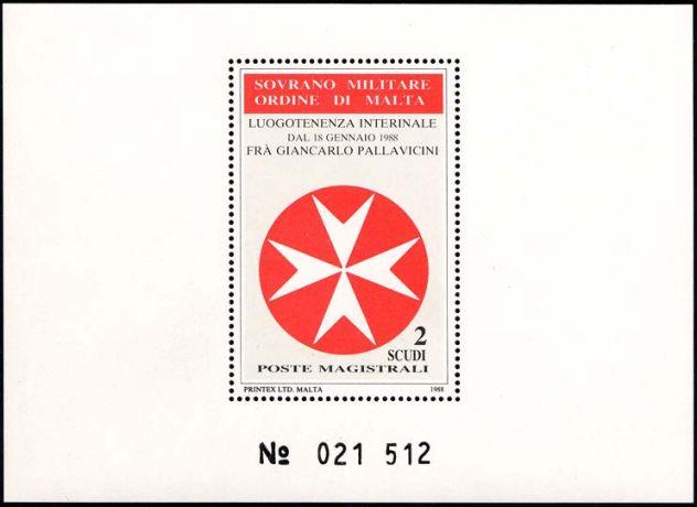 Francobolli nuovi annata 1988 S.M.O.M.