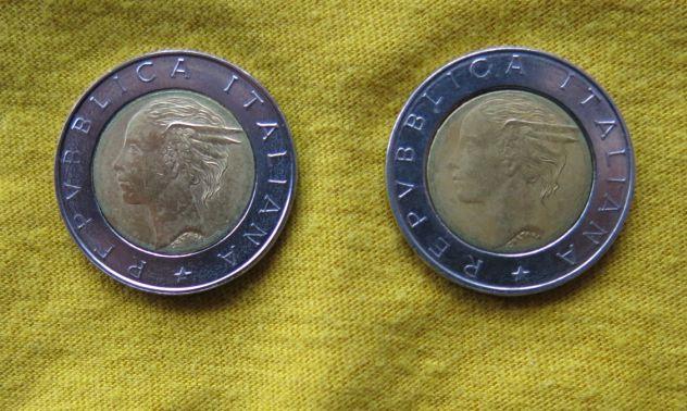 500 LIRE DEL 1996 DELLA REPUBBLICA ITALIANA CON DIFETTO DI CONIO O VARIANTE -