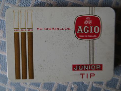 Vecchia scatola metallica sigari olandesi