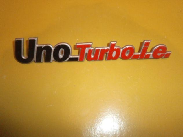 Fiat uno Turbo i.e. scritta logo targhetta posteriore Nuova