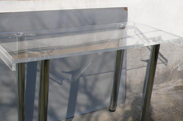 Tavoli plexiglass con gambe cromate design expo - Foto 3