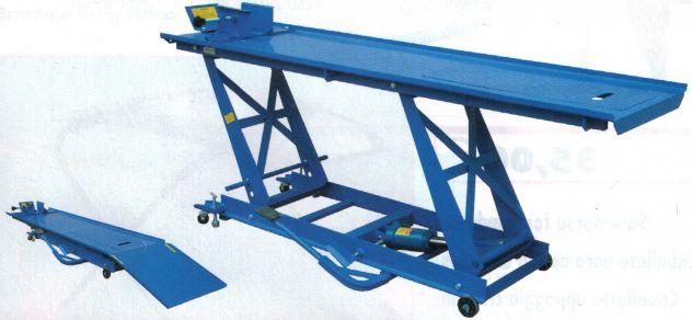 Ponte sollevatore per moto pedana lunga portata kg 550 for Ponte per auto usato