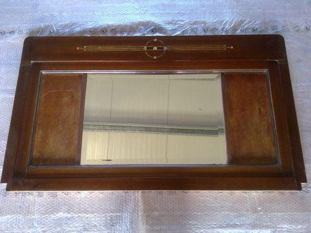 Specchiera antica in legno Noce Bionda lucidata