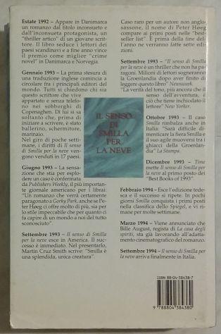 Il Senso Di Smilla Per La Neve Peter Høeg; 1°Ed.Mondadori, 1994 perfetto - Foto 2