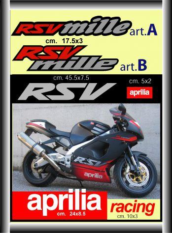 ADESIVI moto APRILIA RSV mille Racing kit completo