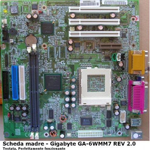 GIGABYTE GA-6WMM7 (rev. 2.0) Scheda madre Motherboard TESTATA PERFETTAMENTE …