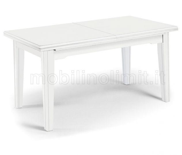 Tavolo Con Allunghe (160x85) - Bianco Opaco