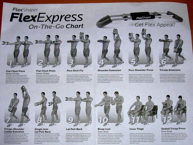 Flex Shaper Attrezzo Da Palestra Addominali Muscoli Fitness Bicipiti Tricipidi - Foto 3