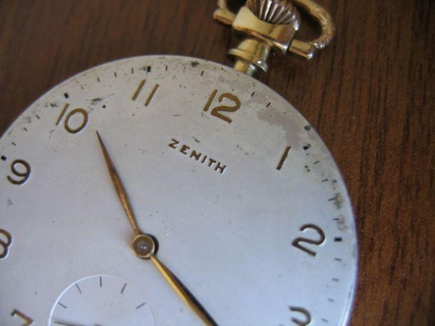 Orologio da Tasca Taschino Cipolla ZENITH Oro 18 K - Primi '900 - Foto 7