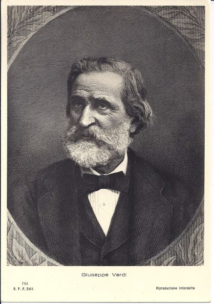 Giuseppe Verdi cartolina Postkarte carte postale postcard