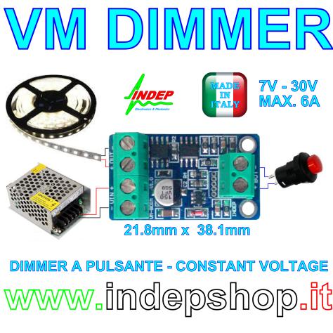VM Dimmer - varialuce per strisce led - 12/24V - 6A - Foto 2