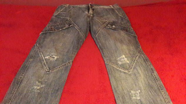 Jeans blu chiaro tasconi vita bassa Tg 46 - NUOVO