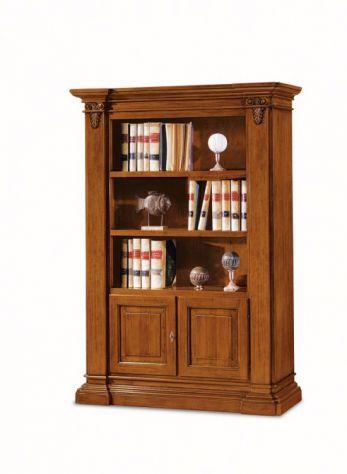Libreria con 2 ripiani e 2 porte stile arte povera Cod 11420