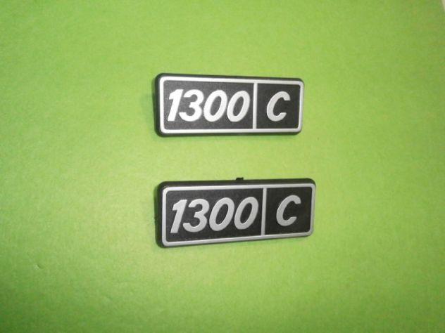 Scitte loghi targhette fiancate posteriori Fiat 128 1300 confort  NUOVE