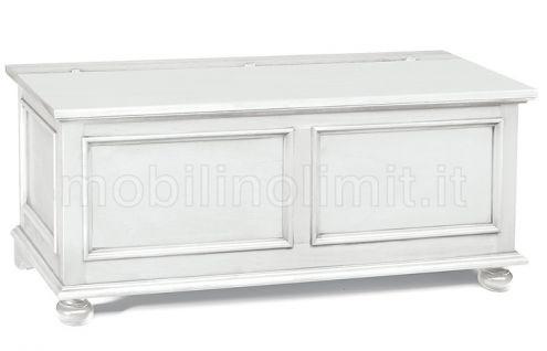 Cassapanca (120x44) - Bianco opaco - Nuovo