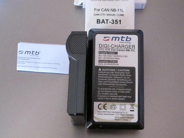 MTB digi-charger  DCL-638 canon NB-11L +2 bat.-Li-ion351 - Foto 8