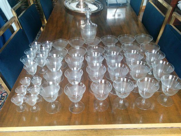 Servizio bicchieri cristallo anni 40