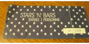 Biglietto stars 'n' bars