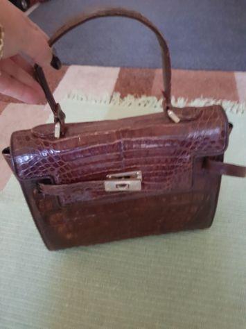 Vendo borsetta vero coccodrillo