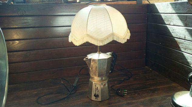 C88 alluminio vecchio lampada base caffettiera moka Bialetti 8tz