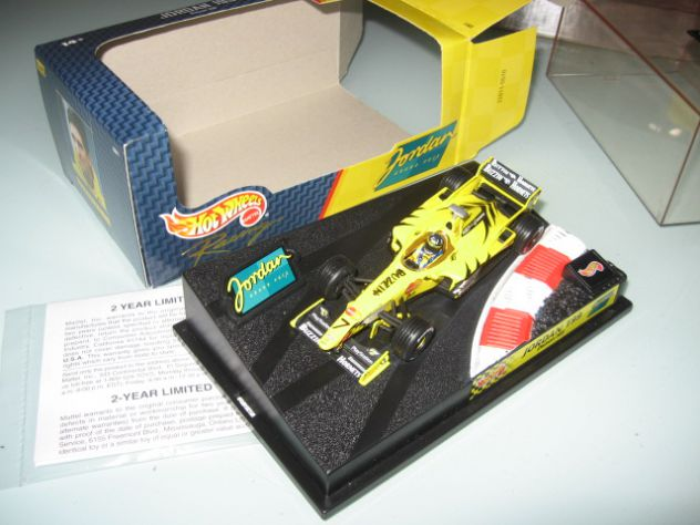 JORDAN 199 DAMON HILL HOT WHEELS 1:43 NUOVO!!!!
