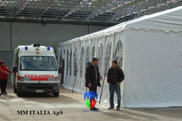 Tunnel Tendoni 5 x 10  mt. per Sanificare Auto e Automezzi da Virus e Batteri