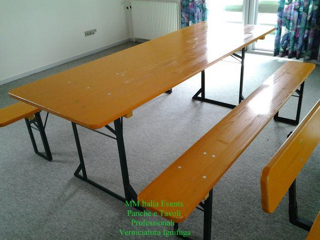 50 set panche e tavoli pieghevoli professionali per sagre noleggio - Foto 7