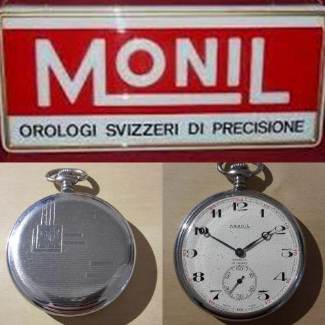 MoniL - Orologio da tasca - 1960-1969 Meccanico a carica manuale - Acciaio.