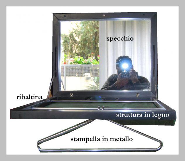 Specchio a ribalta tipo Bauhaus