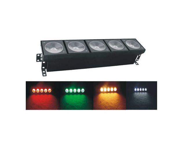 Barra led 5 x30w (150 watt) RGB in dmx x fondali , accento e controluce