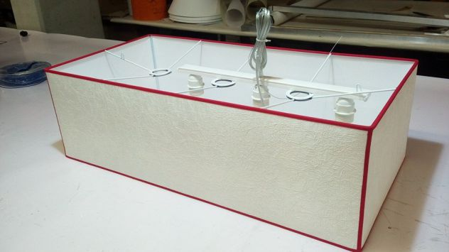 lampadario rettangolare in tessuto tutte le misure
