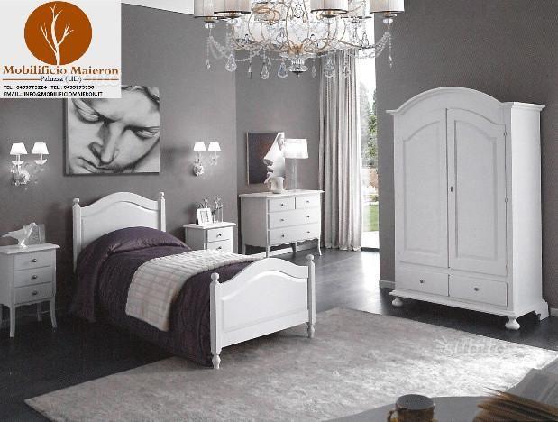 Camere da letto in legno color bianco laccato nuov