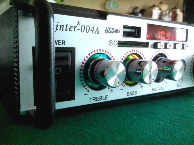 Karaoke stereo hi-fi amplificatore bluethooth multiuso 50 watt - Foto 3
