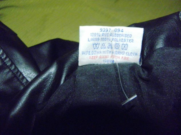 Cappotto in ecopelle nera taglia 52 - Foto 3