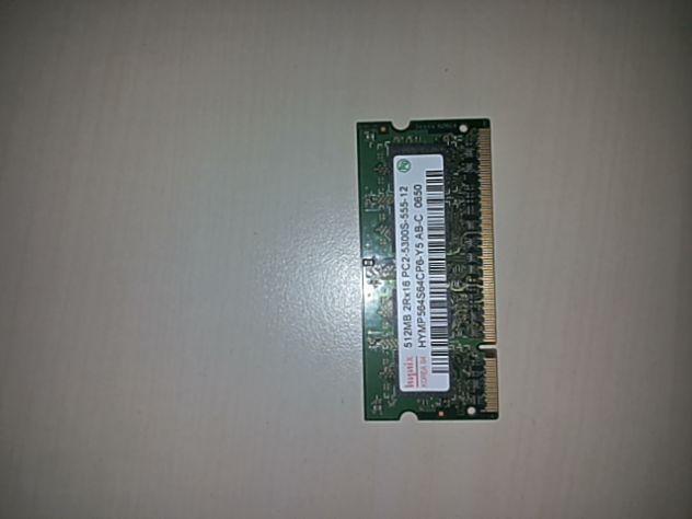 Ram DDR2 (sodimm) - 3 banchi da 512 Mb per Notebook di tipo Pc2 5300