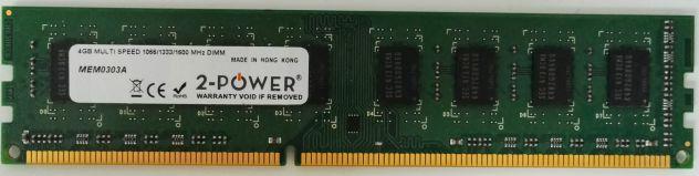Dimm ddr3 hp698650 4gb pc3l 12800u come nuove