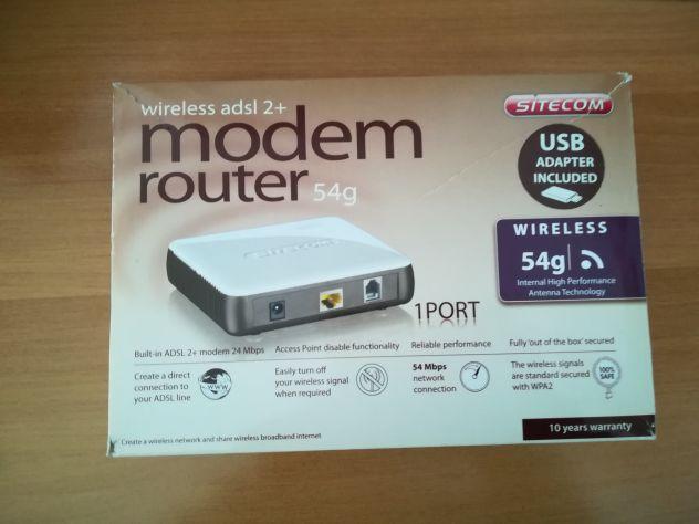Modem Router Sitecom Wireless adsl 2+ 54 g.