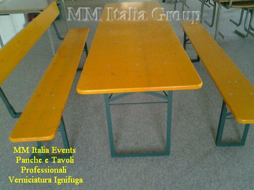50 set panche e tavoli pieghevoli professionali per sagre noleggio