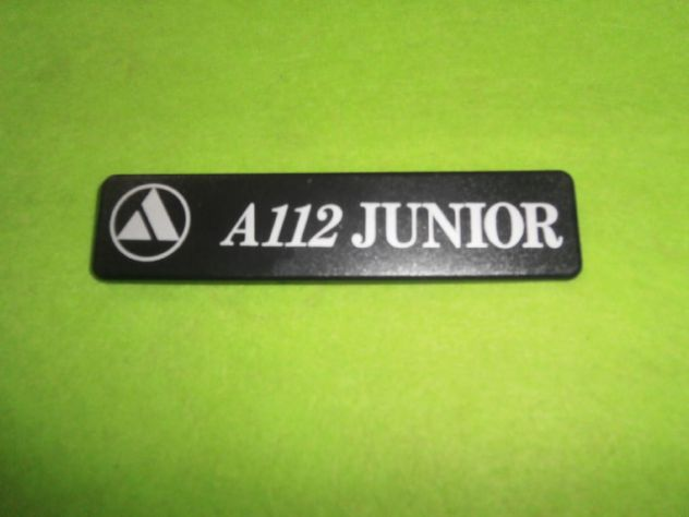 Logo targhetta posteriore Autobianchi a112 Junior 6a serie (1983>) NUOVA